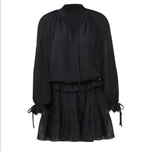 Black chiffon Rebecca Minkoff dress - stunning! 😍